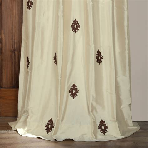 white silk drapes classic mirror pearl white silk curtains drapes