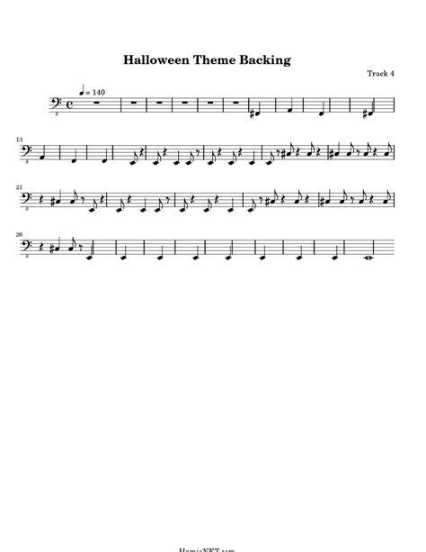 halloween themes music halloween theme backing sheet music halloween theme
