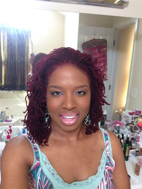 long sisterlocks styles cranberry colored sisterlocks i m loving my new color