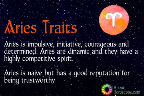 aries traits personality and characteristics