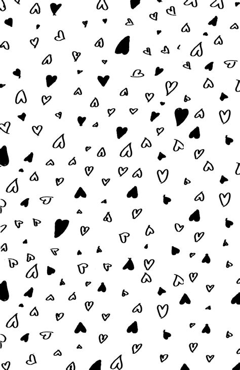 printable wrapping paper black and white printable hearts love valentines day wrapping paper