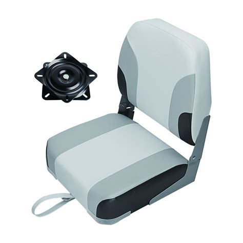 msc folding boat seat msc folding boat seat with swivel color charcoal blue