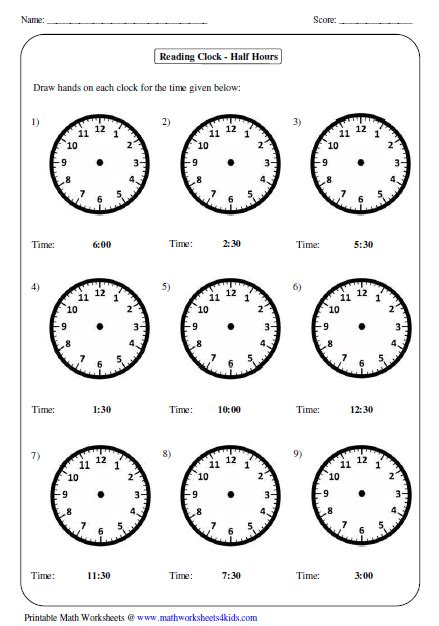 clock worksheets on the hour telling time worksheets