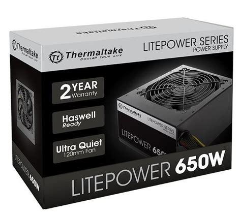 Power Supply Thermaltake Litepower 650w thermaltake lite power 650w atx12v eps12v 80 efficiency power supply