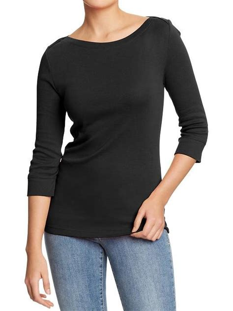 T Shirts Kaos Keren 7 new women3 4sleeve boat neck tshirt 100 asli kaos keren