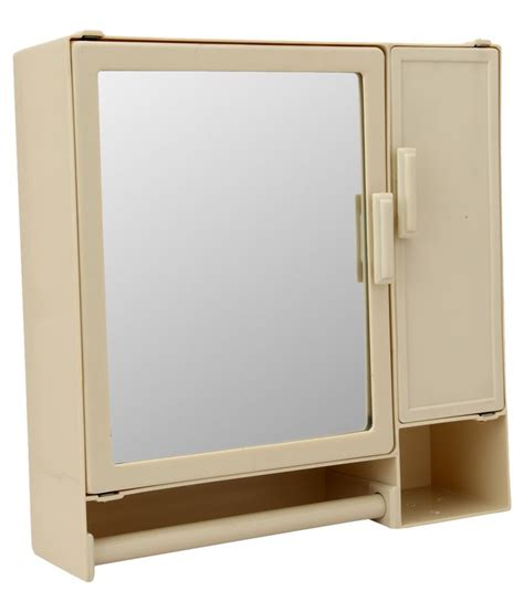 Plastic Armoire by Buy Zahab Beige Plastic Mirror Cabinet At Low Price