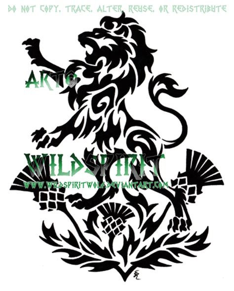 lion and thistles tattoo by wildspiritwolf on deviantart