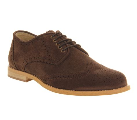 mens ask the missus cardinal brogue lace chocolate brown