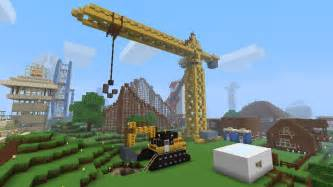 construction crane and digger minecraft project
