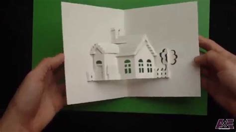 How To Make A Paper Pop Up - how to make a house pop up card origamic architecture