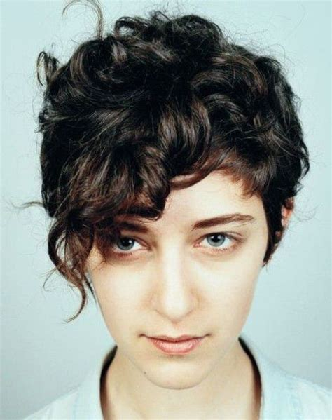 curly pixie curly combed back on top and sides 47 best queer hair images on pinterest hair cut the