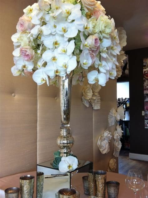 Mercury Glass Flower Vase by The Mercury Glass Vase Centerpieces