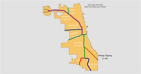 map of chicago kansas city expressway chicago s interstate names explained