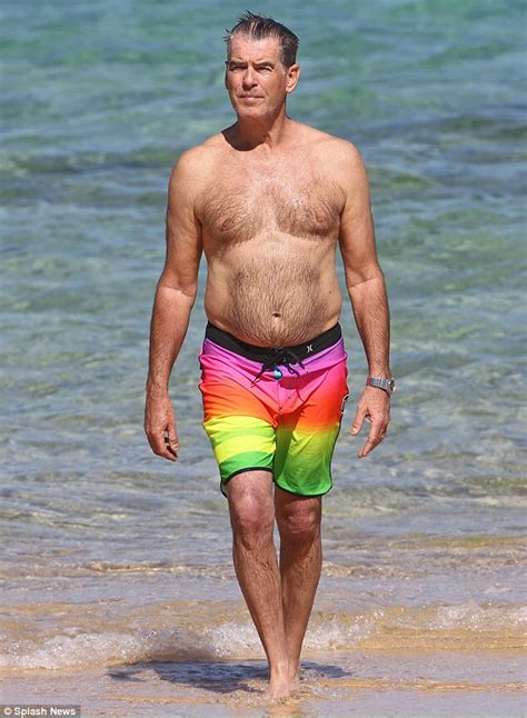 Hawaiian Carpet One by Shirtless Pierce Brosnan Enjoys Sunny Beach Break In
