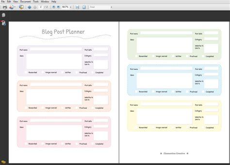 Printable Blog Post Planner Pdf Clementine Creative Printable Planners Instagram Post Planner Template