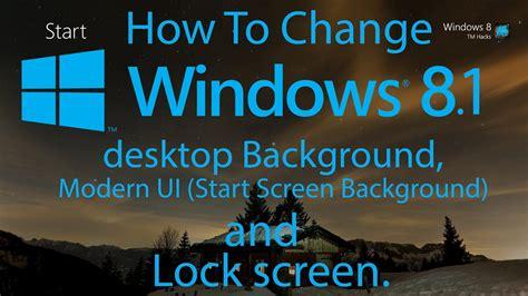 change windows  desktop background modern ui