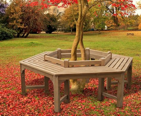 hexagonal tree bench tree seat hexagonal low back
