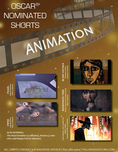 short film oscar animated 2017 oscar nominated shorts animation tallahassee arts