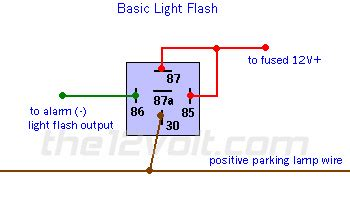 light flash basic negative inputpositive output relay wiring diagram