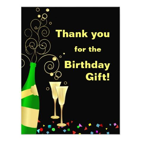 Thank You For Birthday Gift Card Thank You Custom Birthday Gift Thank You Cards