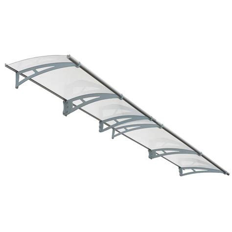 clear awnings for home palram aquila 4100 clear awning 703418 the home depot