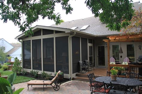 backyard porches and decks screened porch archadeck of kansas city