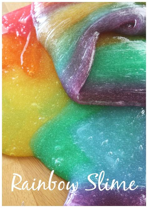 What Colors Make Yellow rainbow slime how to make easy colored slime activity