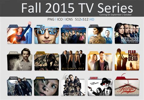 tv shows 2015 fall 2015 tv series folder icon pack by kareembeast on