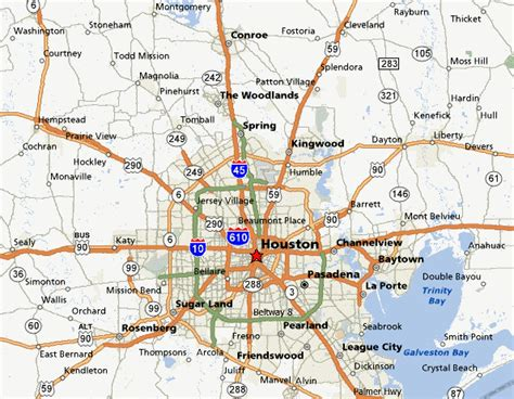 texas map houston area greater houston map