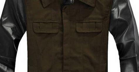 Fashion Pria Korean Style Comby Leather Green Style jaket comby leather sk 60 fashion cowok jaket crows zero jaket korean style