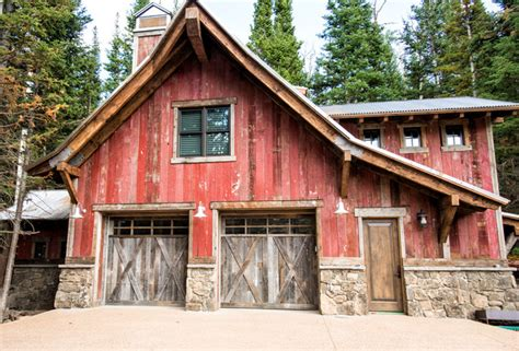 Barn Doors Utah House In Deer Valley Utah Rustic Garage Other By Trestlewood