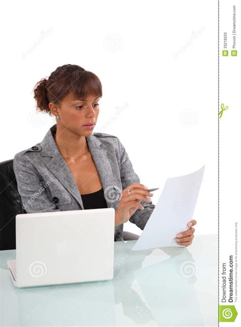 Office Worker At Desk Office Worker Sat At Desk Royalty Free Stock Images Image 33218259