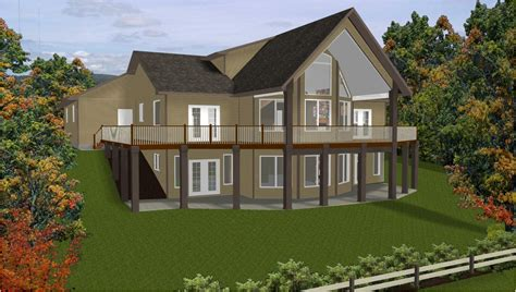 sloping land house designs hillside home plans with basement sloping lot house plans