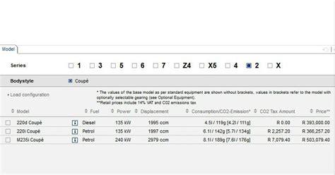Bmw 1er Technische Daten 2013 by Leak Bmw Konfigurator Offenbart Technische Daten Zum Bmw