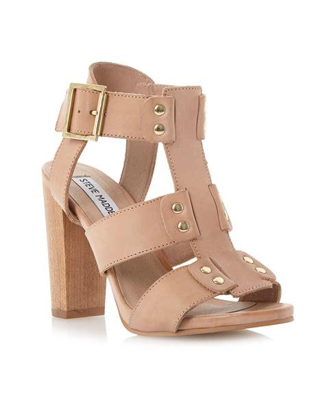 steve madden neville studded sandals in brown white lyst