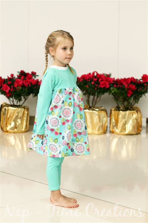 dress pattern nap raglan dress tutorial from a free pattern nap time creations