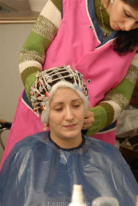 italian domme in hair curlers 1000 images about my capes on pinterest perms perm