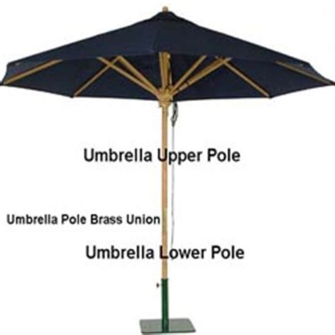 replacement teak umbrella lower pole westminster teak
