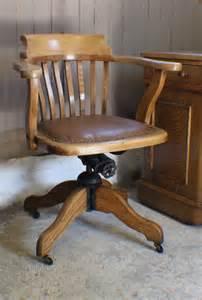 vintage oak office furniture vintage oak 1930s adjustable desk office chair