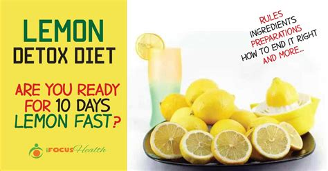 Lemon Detox Diet 7 Day Pack by Maple Syrup And Lemon Juice Detox Recipe