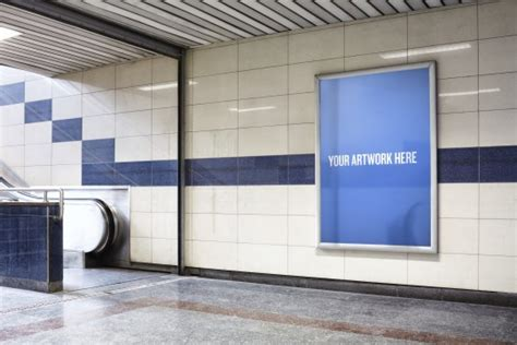 Introducing The City Mockup Templates Subway Poster Template