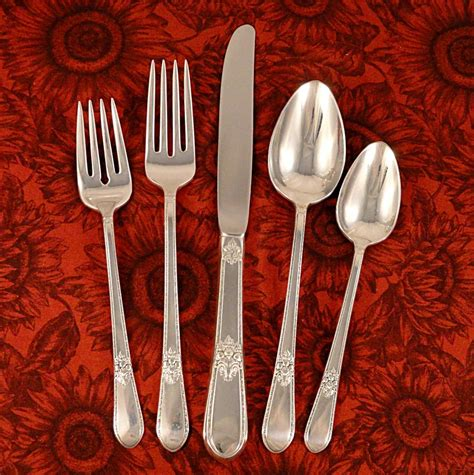 artistic flatware 1847 rogers adoration vintage 1939 art deco silver plate silverware from firesidetreasures on