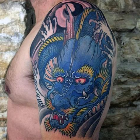 blue dragon tattoo 70 arm designs for breathing ink