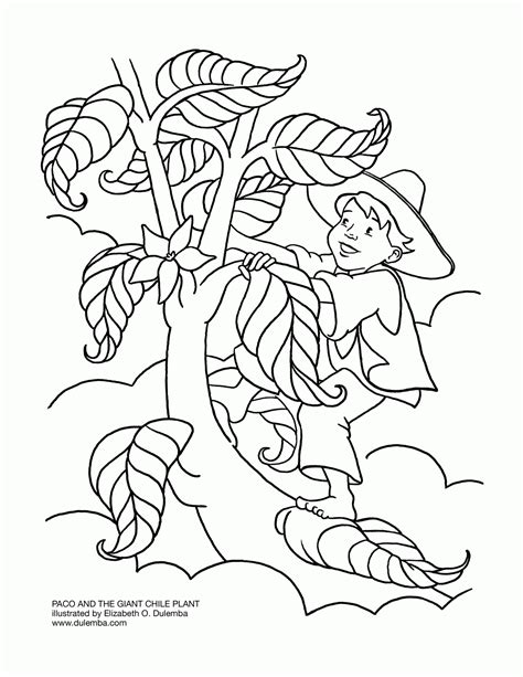 Hansel N Gretel Floor Puzzle and the beanstalk coloring page coloring home