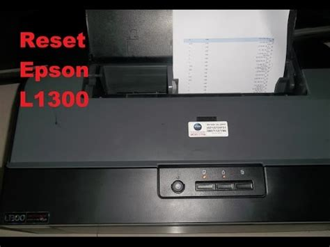 reset key printer epson l1300 reset epson l1300 waste ink pad counter youtube