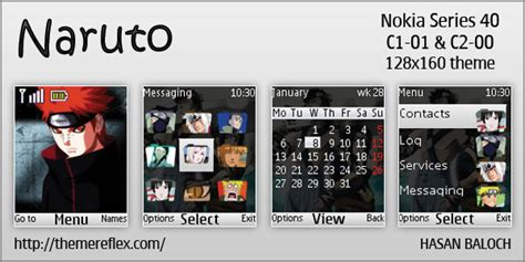 naruto themes for nokia c2 00 naruto theme for nokia c1 01 c2 00 themereflex