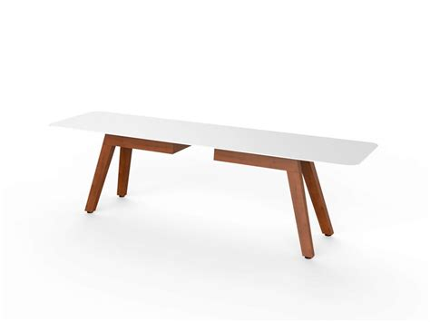 corian bench corian 174 garden bench slim wood bench 160 by viteo design