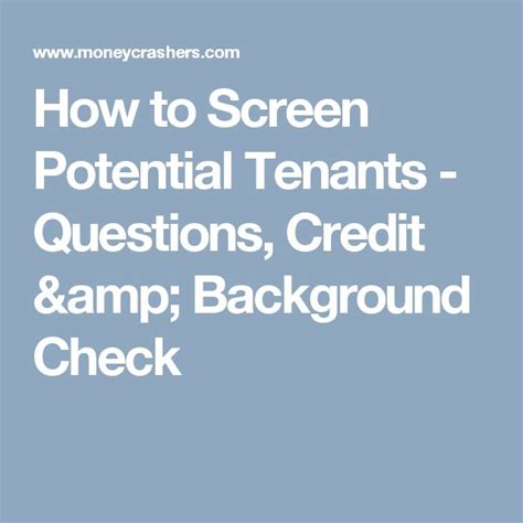 Best Background And Credit Check For Tenants 17 Best Ideas About Tenant Credit Check On Tenant Background Check Tenant