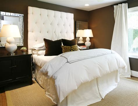 chocolate brown headboard chocolate brown walls gorgeously define everything else