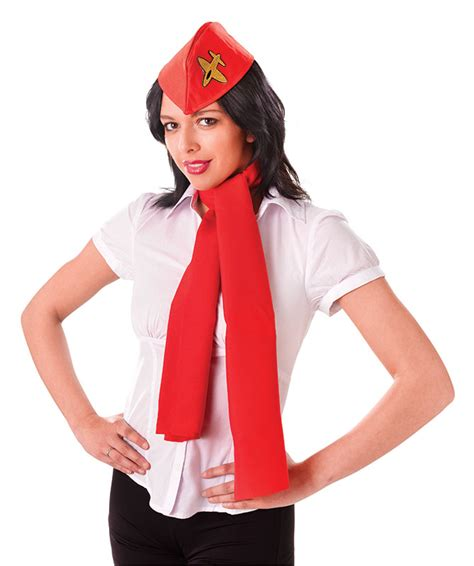 How To Make A Flight Attendant Hat Out Of Paper - air hostess kit hat and scarf flight attendant pilot